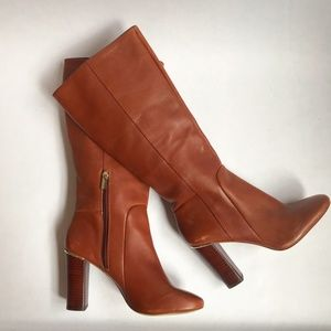 Banana Republic Brown Leather Telney Heeled Boots